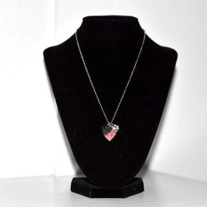 Jewelry - NEW Silver Heart Charm Monogrammed K Necklace